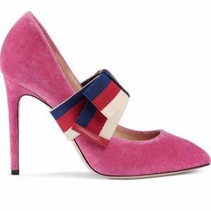 Authentic Gucci Velvet Sylvie Pumps